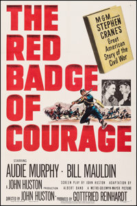 """The Red Badge of Courage (MGM, 1951). Very Fine- on Linen. One Sheet (27"""" X 41""""). War"""
