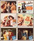 "Movie Posters:Western, The Gay Cavalier & Other Lot (Monogram, 1946). Very Fine-. Lobby Cards (4) & Title Lobby Card (2) (11"" X 14""). Western.. ... (Total: 6 Items)"