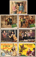 """Movie Posters:Western, Outlaw Trail & Other Lot (Monogram, 1944). Overall: Very Fine-. Title Lobby Cards (2) & Lobby Cards (5) (11"""" X 14""""). ..."""