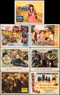 """Movie Posters:Western, Western Union & Other Lot (20th Century Fox, 1941). Very Fine-. Lobby Cards (5) & Title Lobby Cards (2) (11"""" X 14""""). ..."""