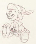 Animation Art:Production Drawing, Pinocchio Classic Pose Animation Drawing (Walt Disney, 1940)....