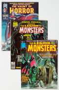 Magazines:Horror, Miscellaneous Horror Magazines Group of 3 (Curtis/Marvel, 1975-77).... (Total: 3 Items)