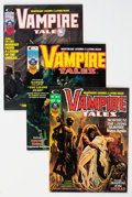 Magazines:Horror, Vampire Tales #5, 7, and 11 Group (Marvel, 1974-75) Condition: Average NM-.... (Total: 3 Items)