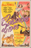 """Movie Posters:Musical, Sensations of 1945 (United Artists, 1944). Folded, Fine/Very Fine. One Sheet (27"""" X 41""""). Musical.. ..."""