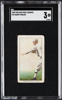 1909 E95 Philadelphia Caramel Harry Krause SGC VG 3