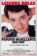 "Movie Posters:Comedy, Ferris Bueller's Day Off (Paramount, 1986). Rolled, Very Fine/Near Mint. One Sheet (27"" X 41"") SS. Comedy.. ..."