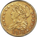Early Half Eagles, 1810 $5 Large Date, Large 5, BD-4, R.2 -- Repaired -- PCGS Genuine. XF Details....