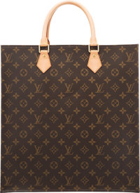 "Louis Vuitton Classic Monogram Canvas Sac Plat Tote Bag Condition: 1 14"" Width x 15"" Height x 3.5"" Depth..."
