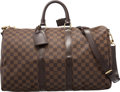 "Luxury Accessories:Bags, Louis Vuitton Damier Ebene Canvas Keepall 45 Bandouliere Bag. Condition: 2. 17"" Width x 11"" Height x 7"" Depth. ..."