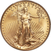 1992 $50 One-Ounce Gold Eagle MS70 PCGS....(PCGS# 9864)