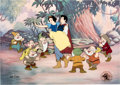 "Animation Art:Limited Edition Cel, ""Happily Ever After"" Snow White and the Seven Dwarfs Limited Edition Cel #129/500 (Walt Disn..."