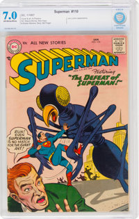 Superman #110 (DC, 1957) CBCS FN/VF 7.0 Off-white to white pages