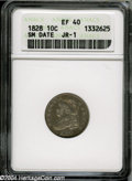 Bust Dimes: , 1828 10C Small Date XF40 ANACS....