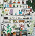 Prints & Multiples, Jonas Wood X Voorlinden. Large Shelf Still Life, poster, 2017. Offset lithograph in colors on smooth wove paper. 23-3/8 ...