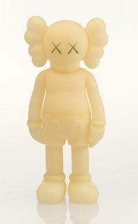 KAWS (b. 1974) Five Years Later Companion (Glow in the Dark), 2004 Cast vinyl 14-7/8 x 6-1/2 x 3-