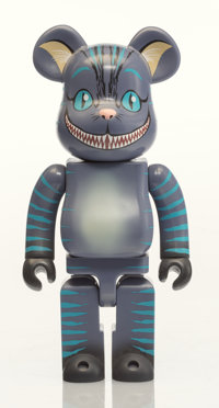 BE@RBRICK X Disney Cheshire Cat 400%, 2010 Painted cast resin 10-3/4 x 5 x 3-1/2 inches (27.3 x 1