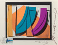 Andy Warhol (1928-1987) U.N. Stamp, 1979 Offset lithograph in colors on Rives paper, with a Swiss st