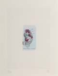 Prints & Multiples, Claes Oldenburg (b. 1929). Waffle Slice with Strawberries, Los Angeles, 1965. Lithograph in colors on paper colléd to De...