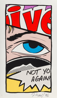 Crash (b. 1961) Not You Again, 1996 Screenprint in colors on aluminum 35-1/4 x 20-1/4 x 2 inches (89.5 x 51.4 x 5.1 c