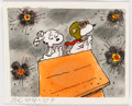 Animation Art:Production Drawing, Peanuts I Want a Dog for Christmas, Charlie Brown Marbles and Snoopy as the WWI Flying Ace Storyboard by Dean Spil...