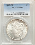 1885-CC $1 MS64 PCGS. PCGS Population: (8396/5900). NGC Census: (3778/2583). CDN: $600 Whsle. Bid for problem-free NGC/P...