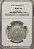 Great Britain: Edward VII Matte Proof 1/2 Crown 1902 PR60 NGC