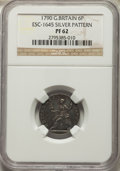 Great Britain: George III silver Proof Pattern 6 Pence 1790 PR62 NGC