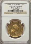 Great Britain: George III gilt-copper Proof Pattern 1/2 Penny 1799-SOHO PR62 Cameo NGC