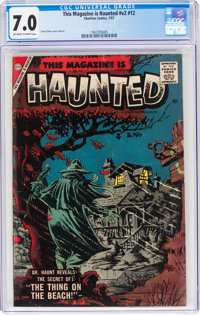 This Magazine Is Haunted V2#12 (Charlton, 1957) CGC FN/VF 7.0 Off-white to white pages