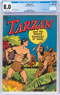 Tarzan #1 (Dell, 1948) CGC VF 8.0 Off-white pages