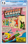 Silver Age (1956-1969):Superhero, The Brave and the Bold #30 Justice League of America (DC, 1960) CGC VF- 7.5 Off-white to white pages....