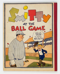 Smitty At The Ball Game Rare Softcover Edition (Cupples & Leon, 1929) Condition: VF