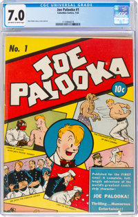 Joe Palooka #1 (Columbia, 1942) CGC FN/VF 7.0 Off-white to white pages