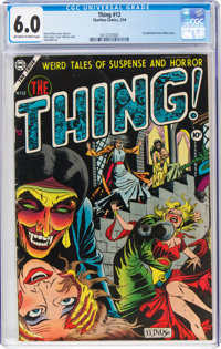 The Thing! #12 (Charlton, 1954) CGC FN 6.0 Off-white to white pages