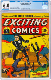 Exciting Comics #16 (Nedor/Better/Standard, 1942) CGC FN 6.0 Cream to off-white pages