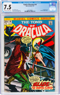 Tomb of Dracula #10 (Marvel, 1973) CGC VF- 7.5 Cream to off-white pages