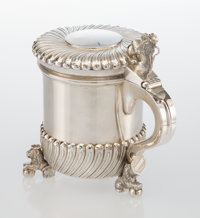 A Preben Salomonsen Silver Tankard with Gilt Washed Interior, Denmark, second half of 20th century Marks: Pr. S