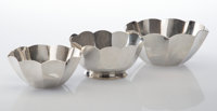 Three Tiffany Silver Bowls, New York, post-1965 Marks: TIFFANY & CO., MAKERS, STERLING SILVER, (various