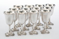 Silver & Vertu, Twelve Wallace Grande Baroque Pattern Silver Water Goblets, Wallingford, Connecticut, designed 1941. Marks: WA... (Total: 12 Items)