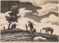 Works on Paper, Thomas Hart Benton (American, 1889-1975). The Fence Mender, 1941. Lithograph on paper. 10 x 14 inches (25.4 x 35.6 cm) (...
