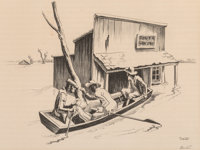 Thomas Hart Benton (American, 1889-1975) The Investigation, 1937 Lithograph on paper 10 x 13-1/4 inches (25.4 x 33.7