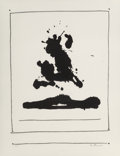 Prints & Multiples, Robert Motherwell (1915-1991). Untitled, from New York International, 1966. Lithograph on Rives BFK paper. 22 x 16-7...
