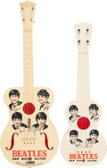 Music Memorabilia:Memorabilia, The Beatles Original New Sound Guitar (UK, 1964) Also Reproduction Copy Rare Red Back (Hong Kong) (2). ... (Total: 2 Items)