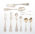 Silver & Vertu, A Fifty-Piece Whiting Manufacturing Company Louis XV Pattern Partial Silver Flatware Service, Retailed by Wright, ... (Total: 50 )