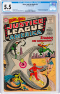 Silver Age (1956-1969):Superhero, The Brave and the Bold #28 Justice League of America (DC, 1960) CGC FN- 5.5 Off-white pages....