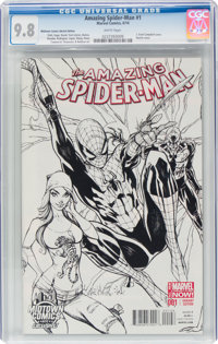The Amazing Spider-Man #1 Midtown Comics Edition Variant (Marvel, 2014) CGC NM/MT 9.8 White pages