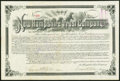 Miscellaneous:Other, Manchester, NH- New Hampshire Trust Company Bond $1,000 May 1, 1894 Fine.. ...