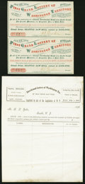 Obsoletes By State:Washington, Seattle, Washington (Territory) - First Grand Lottery of Washington Territory Order Form and Uncut Ticket Pair July 4, 1876 ... (Total: 2 items)