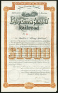 Miscellaneous:Other, (Concord), New Hampshire- Bartlett & Albany Railroad 20 Year Bond $1,000 Jan. 2, 1888 Extremely Fine.. ...