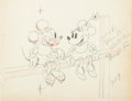 Animation Art:Production Drawing, Touchdown Mickey Mickey and Minnie Mouse Animation Drawing (Walt Disney, 1932)....